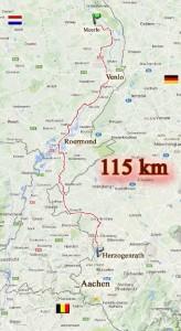 Route van Hertzogenrath naar Meerlo